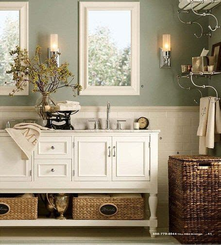White Bathroom With Color Accents by Gratifying Green By Sherwin Williams Light Green