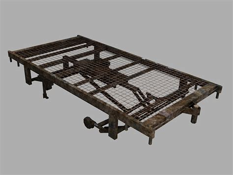3d Model Old Hospital Bed Frame Hospital Bed Frame