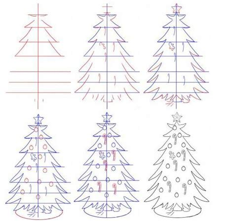 draw realistic christmas trees how to draw a tree 9to5animations