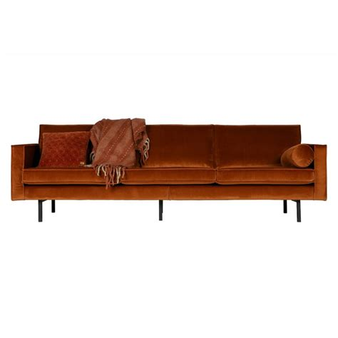 canape rodeo bepurehome canap 233 3 places rouille rod 233 o velours velours