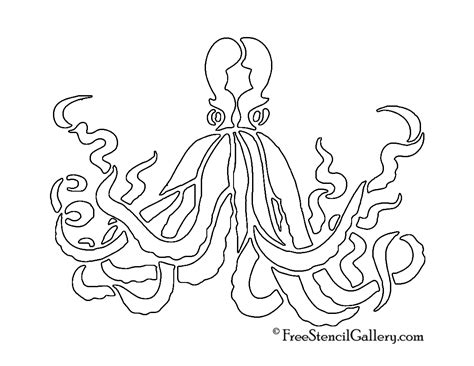 octopus template octopus stencils www imgkid the image kid has it