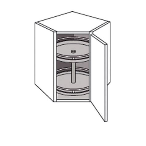 meuble d angle de cuisine meuble de cuisine haut d angle avec 2 plateaux twist cuisine