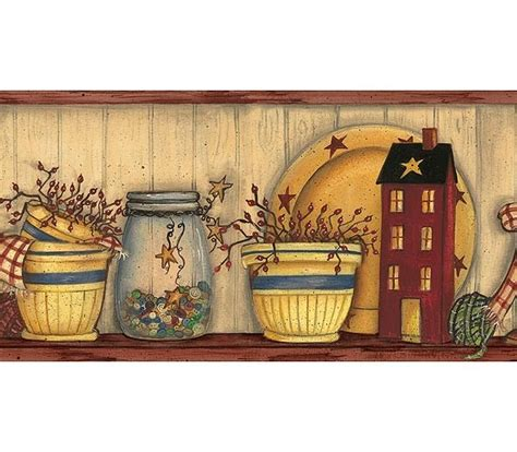 country kitchen wallpaper border primitive vintage and 17 best images about primitive wall borders on pinterest