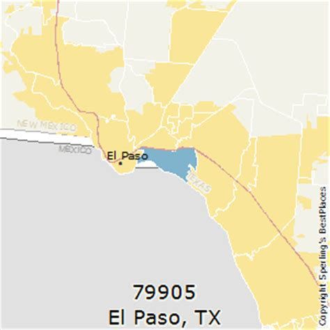 zip code map el paso tx best places to live in el paso zip 79905 texas