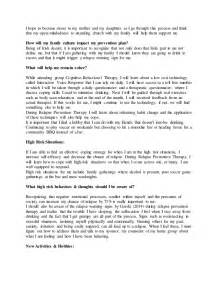 relapse prevention plan template relapse prevention plan
