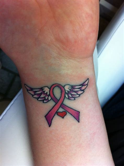 cancer ribbon wrist tattoos best 25 pink ribbon tattoos ideas on breast