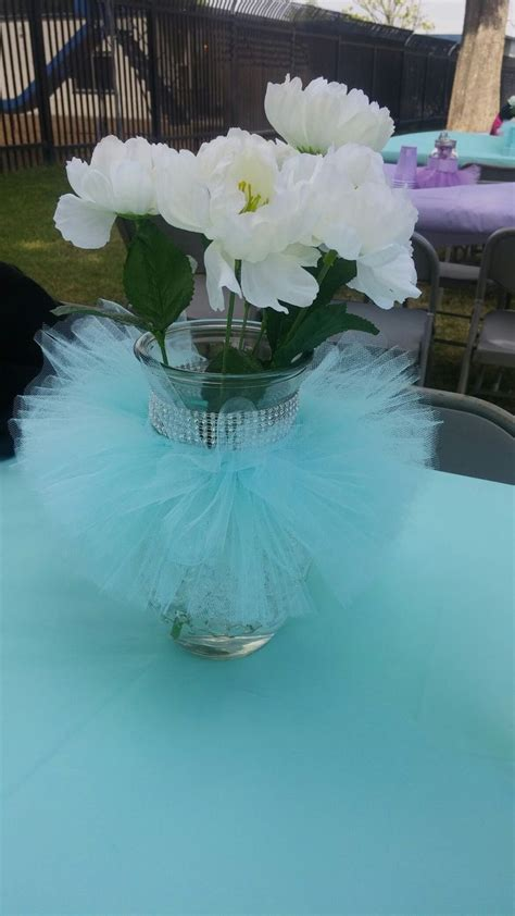 Ballerina Baby Shower Centerpieces by Aqua Tutu Baby Shower Centerpiece Stuff I Made Baby Showers Babies And Shower