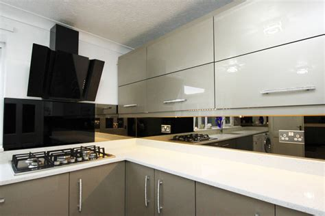 Black Cupboards Kitchen Ideas the ultimate in modern bling glass splashbacks pro glass 4