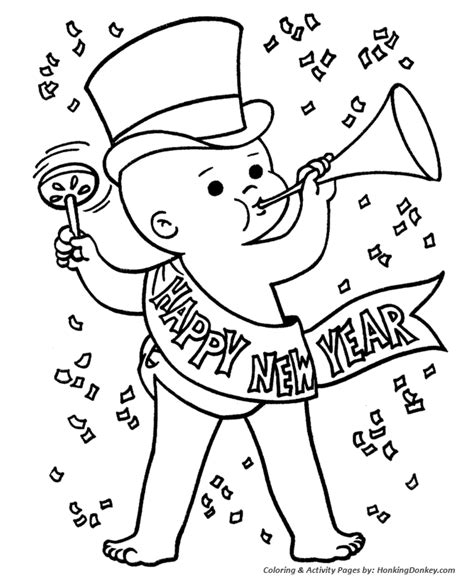 new year color page 2016 new year s day coloring pages baby new year coloring page