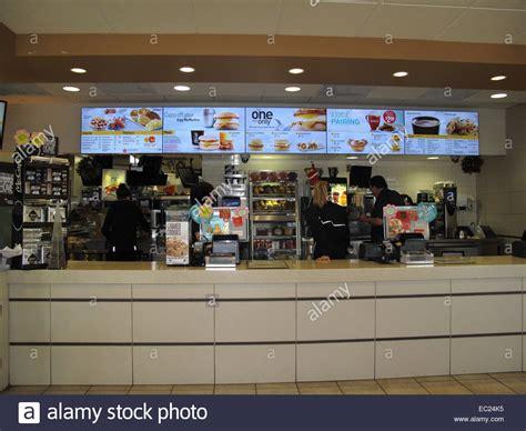 Order Counter The Interior Order Counter At A Mcdonald S Restaurant