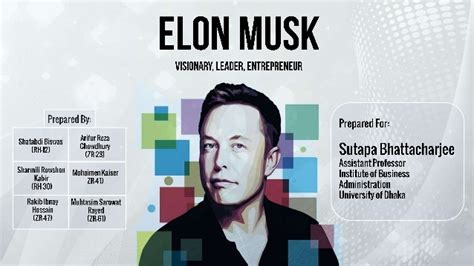 elon musk biography ppt elon musk visionary leader entrepreneur