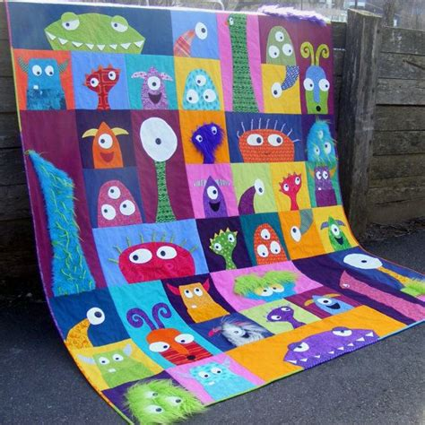 Monsters Inc Quilt by Scary Squares Quilt Pattern Pdf Patterns Crib