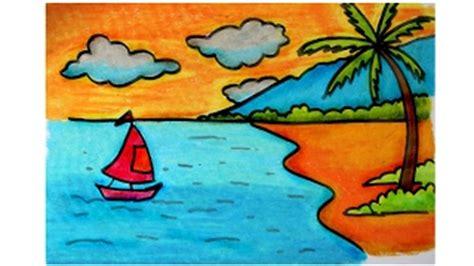 tutorial menggambar hinata how to draw pemandangan alam