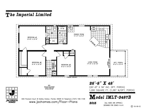 imlt 3487b mobile home floor plan ocala custom homes