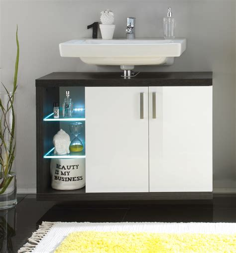 Beau Meuble Salle De Bain Blanc #1: meuble-sous-lavabo-suspendu-de-salle-de-bain-design-avec-_clairage-coloris-blanc-fonc_-solcice.jpg