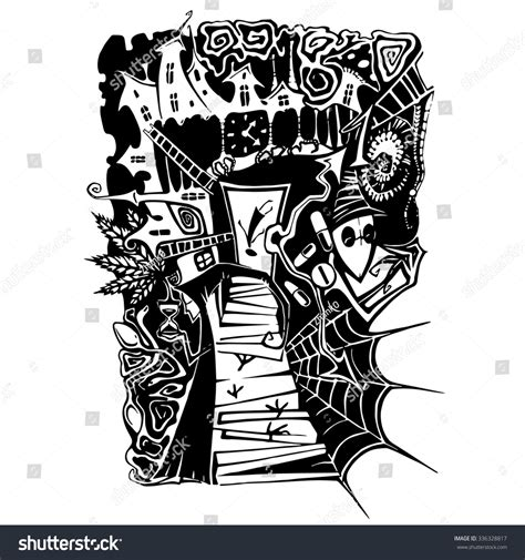Detox And Nightmares by Vector Black Addiction Nightmare On Stock Vector