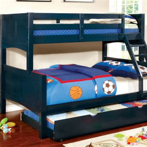 blue bunk bed prismo ii bunk bed blue