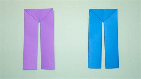 How To Make Origami Trousers - how to make paper easy origami pant and trousers