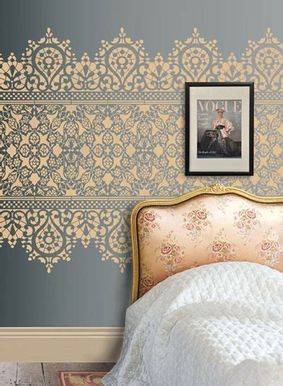 lace pattern wall lace stencil wall diy projects pinterest