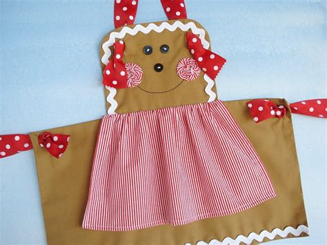 pattern christmas apron apron christmas sewing pattern for children gingerbread