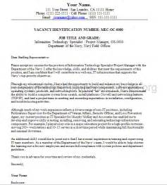 Sle Cover Letter For Federal by Federal Cover Letter Sle By Federalresumewr On Deviantart