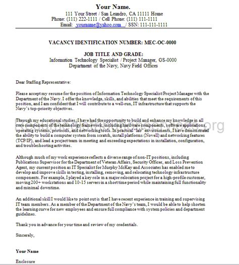 Cover Letter For Government Resume Federal Cover Letter Sle By Federalresumewr On Deviantart