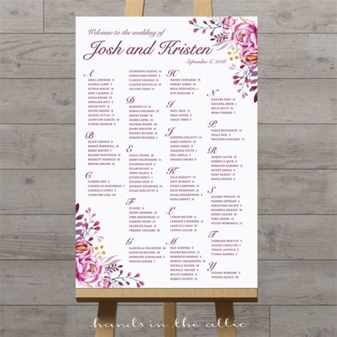 Wedding Seating Chart by Printable Wedding Seating Charts Floral Rustic String