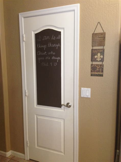 chalkboard paint door chalk paint on my pantry door diylove kitchen ideas