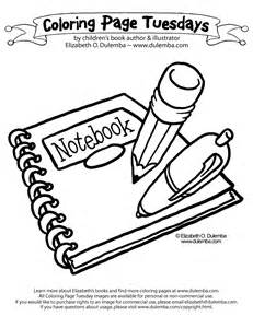 coloring supplies dulemba coloring page tuesday back to school supplies