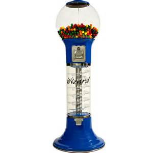 wizard spiral gumball machine in blue color