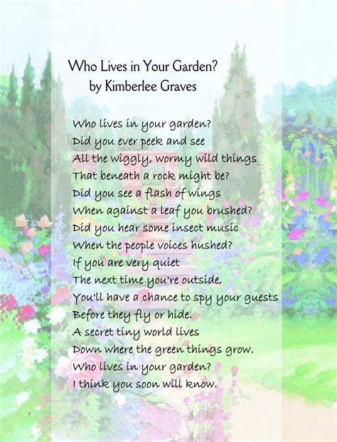 Garden Poems learning june 2012