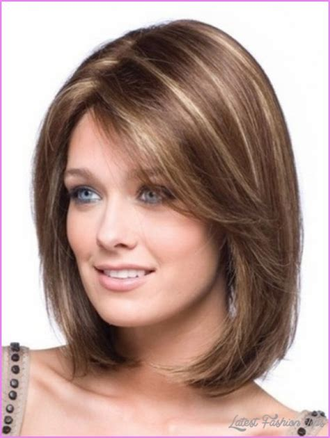 cute shoulder length haircuts longer in front and shorter in back cute medium haircuts for thick hair teens