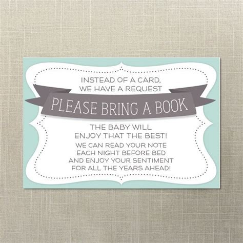 Baby Shower Bring A Book Instead Of A Card Template by Baby Shower Book Request Bring A Book Books For Baby