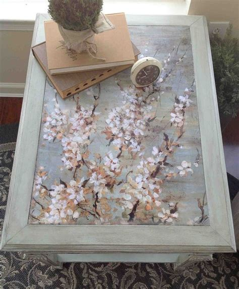 decoupage glass table top 10 table upcycled with mod podge chalk paint hometalk