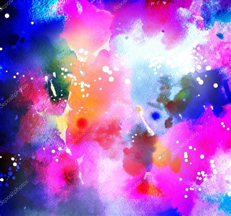 cosmic background watercolor cosmic background in neon colors with brush