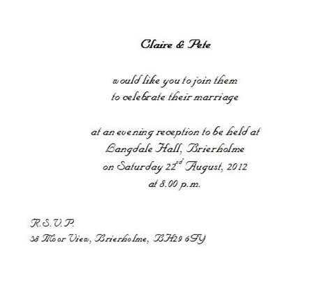 wording for wedding invitations from and groom invitation wording wedding and groom inviting lake