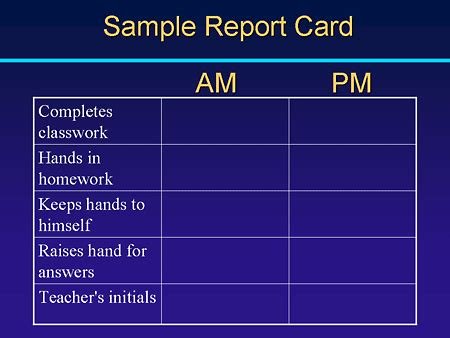 Daily Report Card Template For Adhd daily report sheet images