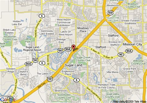 map of drury inn and suites houston sugar land sugar land