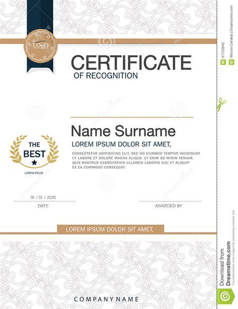 design graduation certificate certificate of achievement frame design template layout