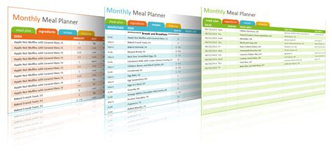 meal planning and shopping list excel template buy the book