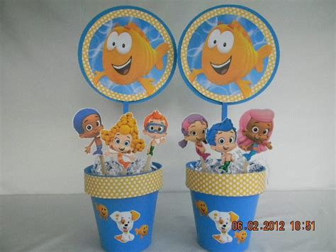 Bubble Guppies Centerpieces Happy Birthday Guppies Centerpiece Ideas