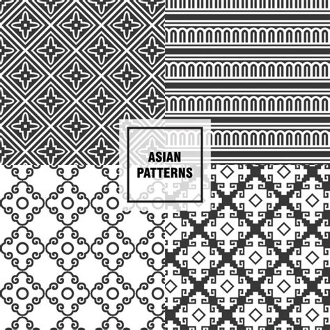 asian pattern ai black asian patterns vector free download