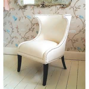 designer mayfair white wing chair bedroom company