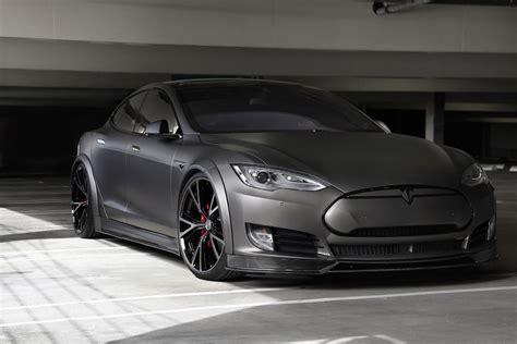 Rims For Tesla Model S Get Stealthy With This Tesla Model S On Niche Wheels