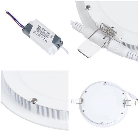 ceiling light flat round 9 12 18w led round recessed ceiling flat panel down light