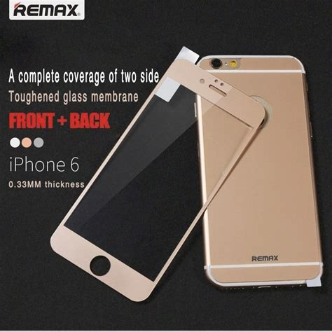 Tempered Glass Iphone 6 Front Back remax front back comprehensive tempered glass for iphone