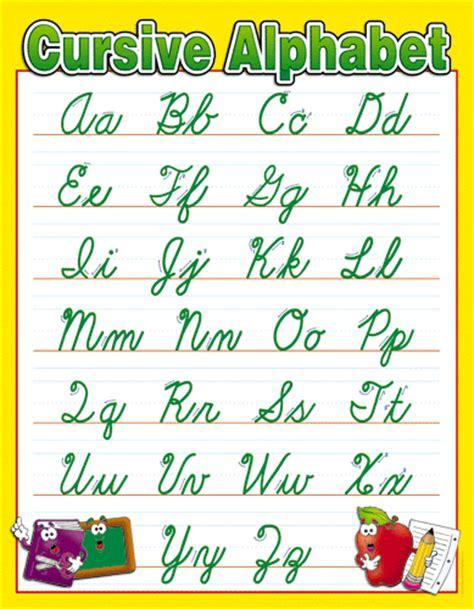cursive letters chart alphabet in cursive new calendar template site 1174