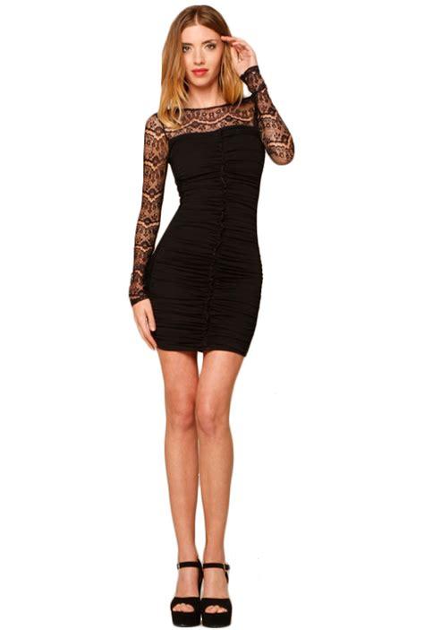 beauties wearing   black dress