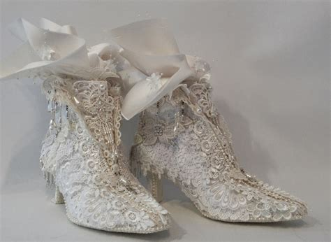 Paper Lace Craft - annes papercreations shabby chic lace shoes makeover