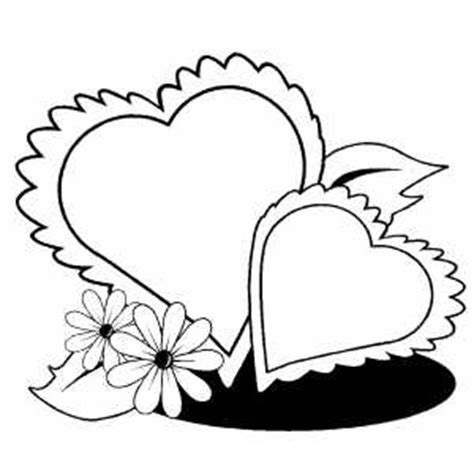 hearts and flowers coloring page clipart best clipart best